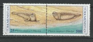 Turkmenistan 1993 Fauna Sea Animals Seals 2 MNH stamps