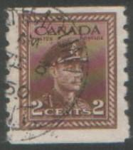 Canada 1942 2c coil stamp SG390 used