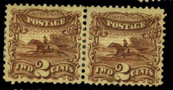 113 MINT Pair F-VF OG HR Right stp Lt crease Cat$1200