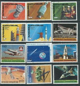 Central African Republic 12 space issues (MNH) CV $5.75