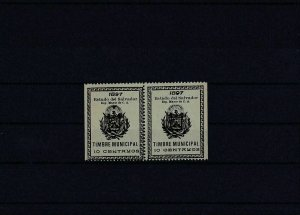 Salvador 1897 mint Revenue stamps block Ref: R4196