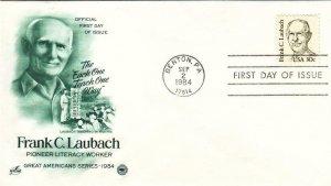 1984, Frank C. Laubach, Artcraft/PCS, FDC (E8328)