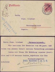Smyrna Turkey 1912 Germany Levant Postcard - PAUL MILBERG