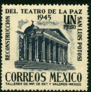 MEXICO 802, $1P Reconstruction La Paz Theater S L Potosi MINT, NH. VF.