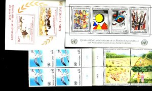 UNITED NATIONS #137, 141-144, 145, 150 MINT SET MNH