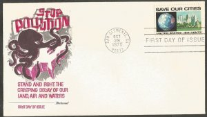 US FDC.1970 SAVE OUR CITIES 6C STAMP,FIRST DAY OF ISSUE COVER,SAN CLEMENTE,CA