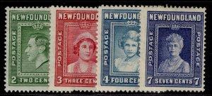 CANADA - Newfoundland GVI SG268-271, complete set, M MINT. Cat £11.