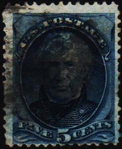U.S.A. 1875 5c S.G.181 Fine Used
