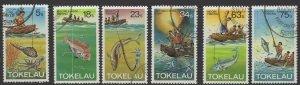 TOKELAU ISLANDS SG85/90 1982 FISHING FINE USED