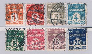 Denmark 57-64 Used set Numerals 1905 (D0203)