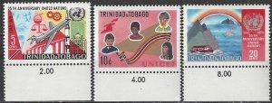 Trinidad & Tobago MNH 183-5 UN 25th Anniversary 1970