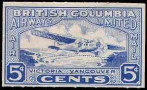 CANADA Private Mail Service British Columbia Airways,CL44 MH