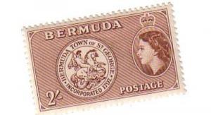 Bermuda Sc158 1953 2/ St George Arms stamp mint NH