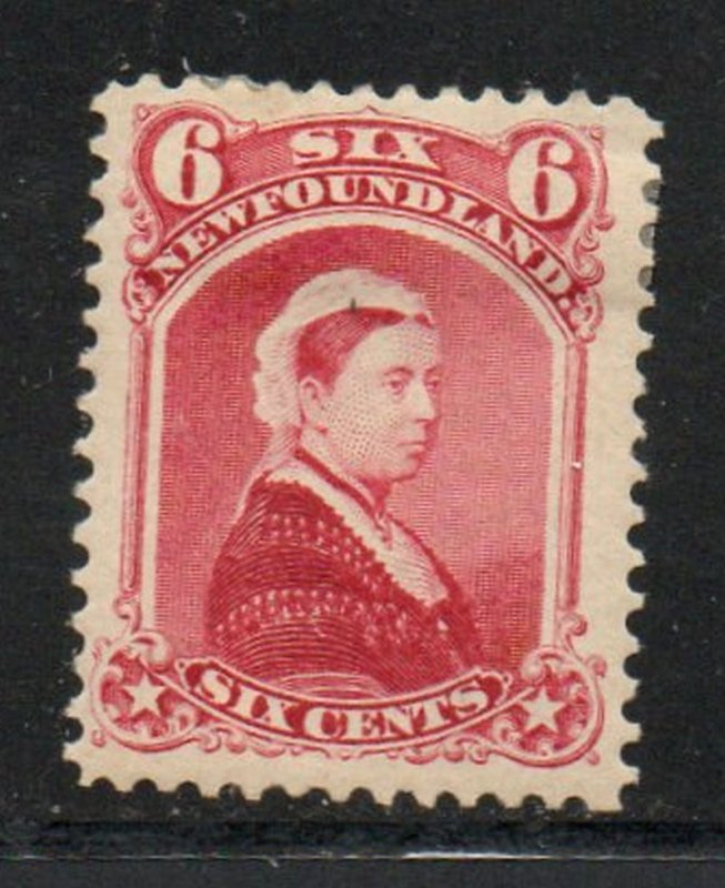 Newfoundland Sc 36 1894 6c carmine lake Victoria stamp mint