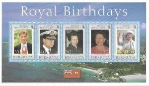 2000    BERMUDA  -  SG.  MS 849  -  ROYAL BIRTHDAYS -  MNH