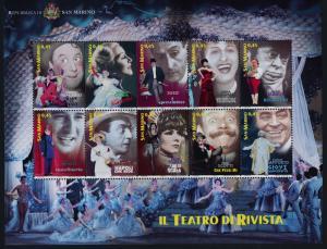 San Marino 1652 MNH Musical Theater, Famous People