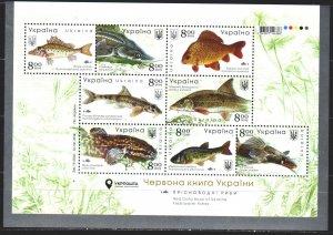 Ukraine. 2019. Small sheet 1837-44. Fish of the Black Sea. MVLH.