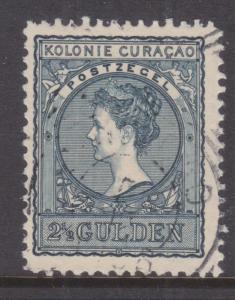 CURACAO, 1906 Wilhelmina 2 1/2g. Slate Blue, used.