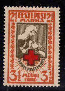 Estonia Scott B7 MH* 1921 Red Cross Nurse stamp