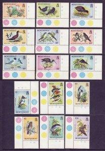MONTSERRAT — SCOTT 524-538 — 1984 BIRDS SET — MNH — SCV $43