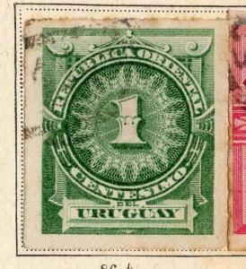 Uruguay 1888 Early Issue Fine Used 1c. 096082