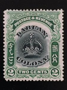 Malaya Labuan 1902-03 Crown 2c MNG P.14½ SG#118 CV£120 M2160