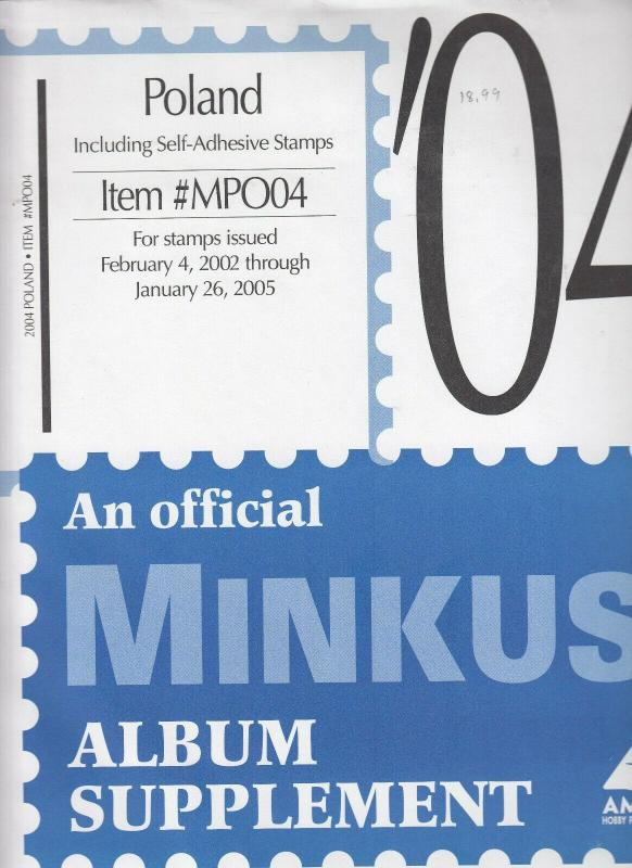 Minkus Poland 2004 Supplement Stamps Issued Feb 2002 to Jan 2005 Brand New