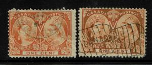 Canada SC# 51, Used, two color varieties - S2607