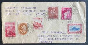 1950s Shizuoka Japan Cover To Buch Russian Zone Germany