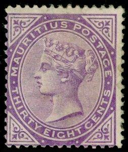 MAURITIUS SG98, 38c Bright Purple, M MINT. Cat £200.