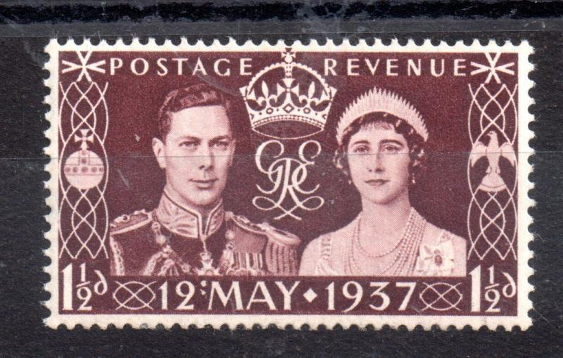 GB KGVI 1937 1 1/2d Coronation 'Colon Flaw' SG461A MH WS8942