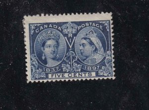 CANADA # 54 FINE-MH(Crease) 5cts JUBILEE CAT VALUE $30+
