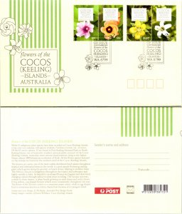 Cocos Islands, Worldwide First Day Cover, Flowers