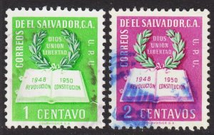 El Salvador Scott 615-16 F to VF used.
