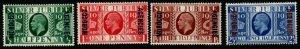 MOROCCO AGENCIES SG62/5 1935 SILVER JUBILEE MTD MINT