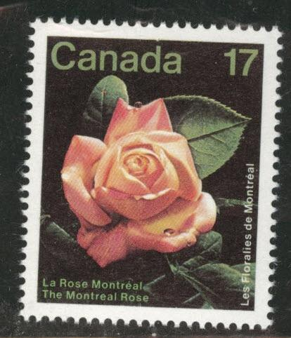 Canada Scott 896 MNH** 1981 Montreal Rose flower