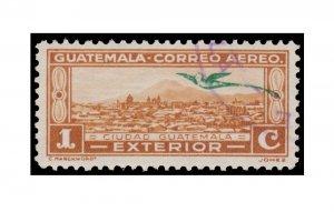 GUATEMALA AIRMAIL STAMP 1935 SCOTT #  C47. USED.
