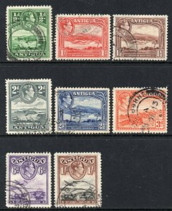 Antigua 1938 KGVI p/set (8v.) used