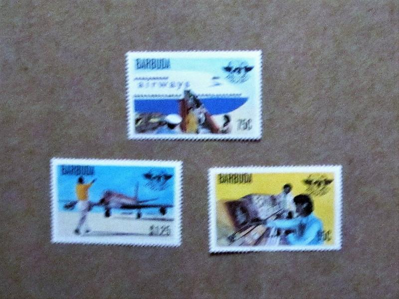 Barbuda - 391-93, MNH Set. Int. Civil Aviation Org., 30th Anniv. SCV - $1.50