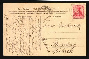 Ceylon Sri Lanka to Austria German Seepost paquebot Germany posted on board