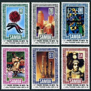 Samoa 923-928,MNH. Pacific Festival of Arts 1996.Logo,Dancing,Wood carving,Chief