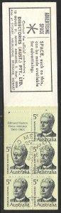 AUSTRALIA 1969 Prime Ministers Complete Booklet Sc450a-453a VFU FDOI Postmarks