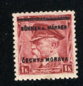 Czechoslovakia Bohemia and Moravia 9   M NH VF 1939 PD