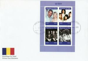 Chad 2019 FDC Queen Freddie Mercury 4v M/S Cover Music Celebrities Stamps