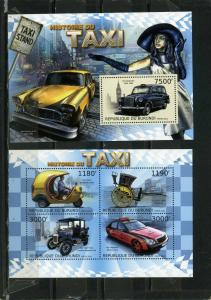 BURUNDI 2012 CARS/TAXIS SHEET OF 4 STAMPS & S/S MNH