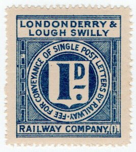 (I.B) Londonderry & Lough Swilly Railway : Railway Letter 1d