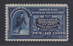 US Sc E5 MLH. 1895 10c blue Special Delivery, fresh & VLH, Almost VF
