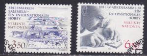 U.N. - Vienna # 62-63, Stamp Collecting, Used