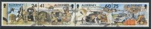 Alderney SG A85a SC# 91 Signal Regiment Used strip of 4  see scan