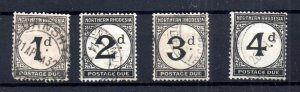 Northern Rhodesia 1929-52 Postage Due fine used D1-D4 WS16504